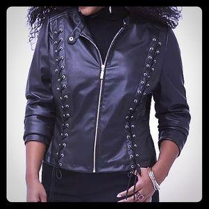 NWOT! Lane Bryant Faux Leather Jacket sz. 14/16